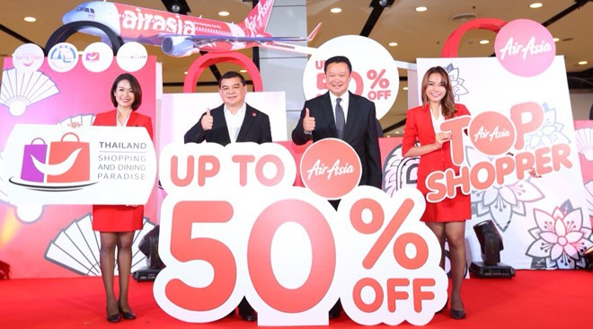 Thailand Shopping & Dining Paradise 2017 receives supports from Air Asia (1)
