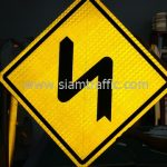 Double bend to left and to right sign export to Yangon Myanmar