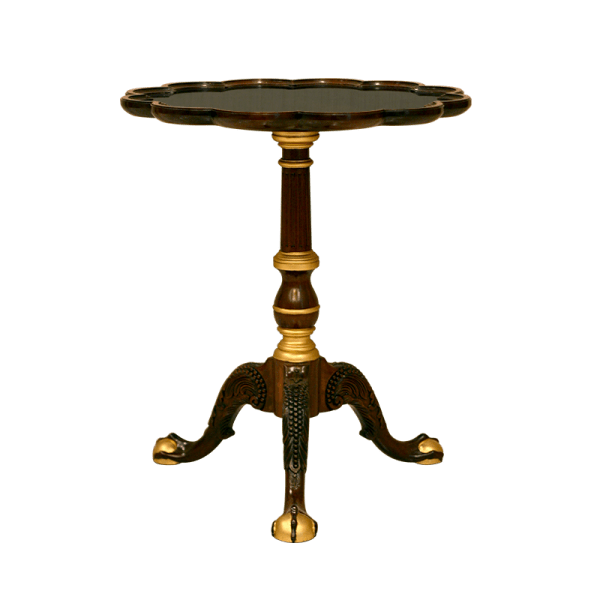 Ball & Claw Tea Table - Gold Leaf Special
