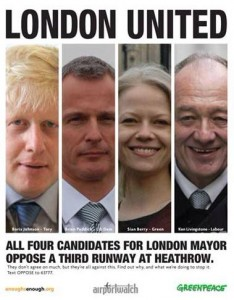 In 2008, Sian condemned Heathrow plans in a joint advert with campaigners and other main candidates for Mayor