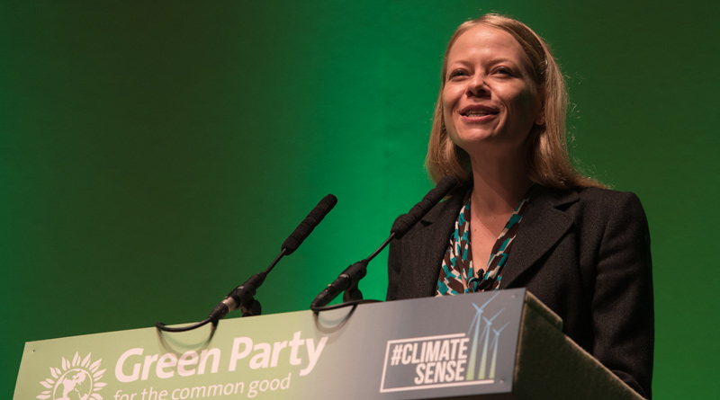 Sian Berry speaking at conference