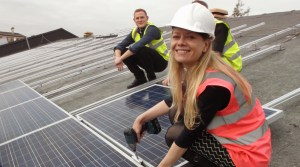 On the roof with Joju Solar and Drive Now