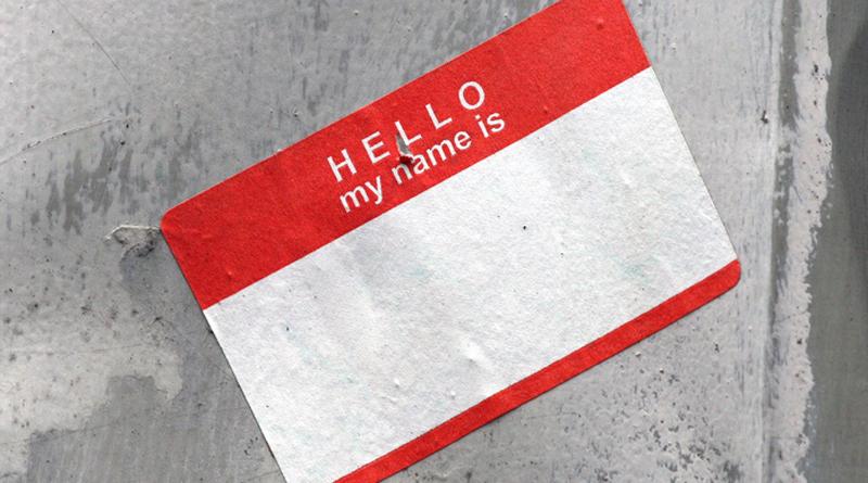 Name badge, photo Quinn Dombrowski on flickr