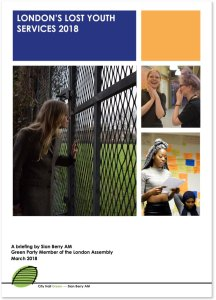 Cover of London's Lost Youth Services report 2018