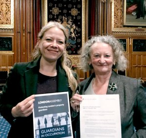 Sian Berry and Jenny Jones in the House of Lords