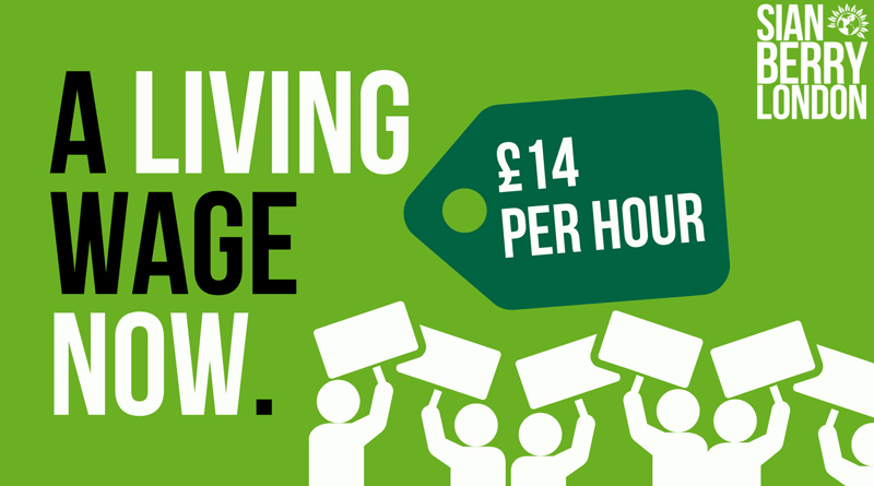 A real living wage now - £14 per hour