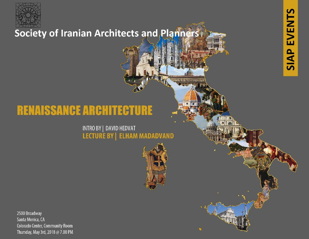 Renaissance Architecture – Introduction By: David Hedvat – Lecture By: Elham Madadvand
