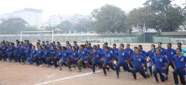 Mr.Anjani Kumar,IPS, Commissioner of Police, Hyderabad city conducting Pre-Recruitment Training for unemployed youth (Boys and Girls together around 1200+) for the posts for Sis and PCs is going on at Goshamahal Police Stadium in Hyderabad