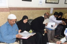 Parents visits Siasat office at Abids exploring files for their boys and girls matrimonials. (Photo: Laeeq)