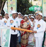 Hyderabad Ophthalmologists' Association (HOA) along with Sarojini Devi Eye Hospital, and it's Alumni Association, hosted the Glaucoma Awareness walk, as part of the World Glaucoma Awareness Week being held from March 10th to 16th, 2019. The Walk was flagged of by Shri Etala Rajender, Health Minister, Telangana at Sarojini Devi Eye Hospital,
