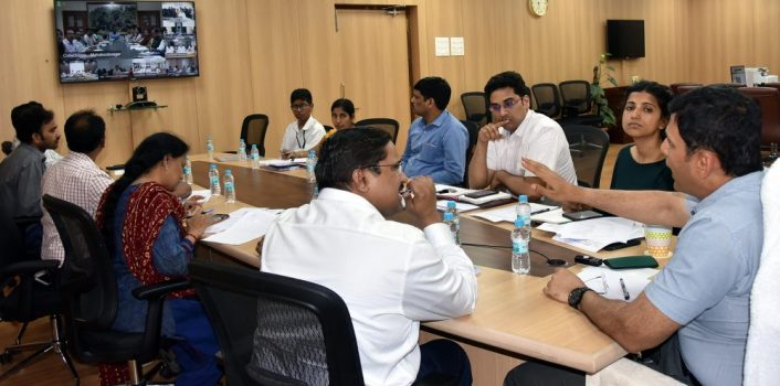 Dr.Rajat Kumar,IAS., Chief Electoral Officer, Telangana held a Video Conference with District Collectors from Secretariat in Hyderabad