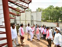 RS Chief and Chief Minister K Chandrashekar Rao INSPECTING RENNOVATION WORKS IN TELANGANA BHAVAN in Hyderabad