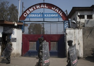 Violent protests broke out on Thursday evening inside the high-security central jail in Srinagar reportedly over some construction work at a barrack. Photo: Muzamil Bhat