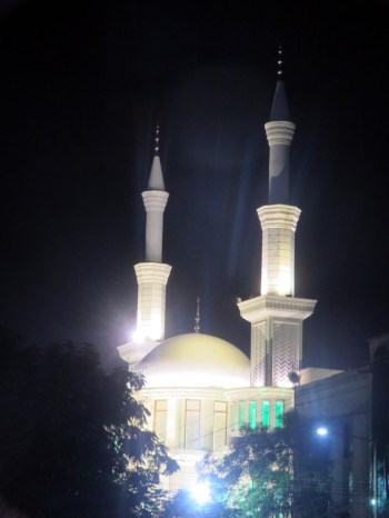 During the on-going month of holy Ramzan, various mosques of the city are illuminted with colourful lights including Ek Minar ki Masjid and Qutub Masjid.:Photo:Laeeq