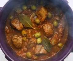 Gjelle me ullinj dhe mish vici. Receta gatimi te thjeshta.