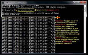 Cfare eshte ping. Si behet ping (Windows Xp & 7). Tutoriale shqip 4