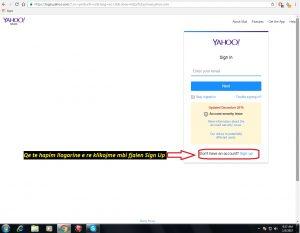 Si te hap nje adrese e-mail (Yahoo). si te hapim . Tutoriale shqip