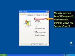 Cfare sistemi operativ kam ne kompjuter Tutoriale Shqip. Parametrat e kompjuterit , desktop , shortcut. Mesoni perdorimin e kompjuterit hap pas hapi te ilustruara fotografi. 2