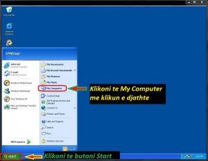 Cfare sistemi operativ kam ne kompjuter Tutoriale Shqip. Parametrat e kompjuterit , desktop , shortcut. Mesoni perdorimin e kompjuterit hap pas hapi te ilustruara fotografi.