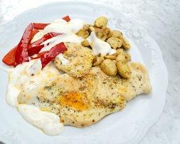 Fileto pule me kerpudha dhe pana. Receta gatimi tradicionale.