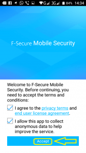 Programe per telefona Android. F-Secure Mobile Security. 6