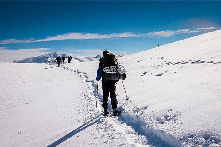 Raquette à neige Ariège Col Chioula