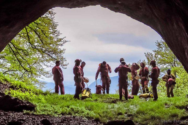 Spéléologie Ariège sortie de la grotte
