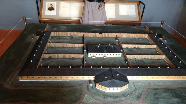 model of a 19th century Russian prison