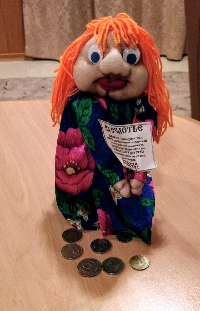 humorous orange haired woman doll