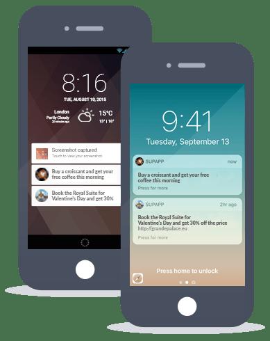 Siberian CMS App Maker's Push notification feature