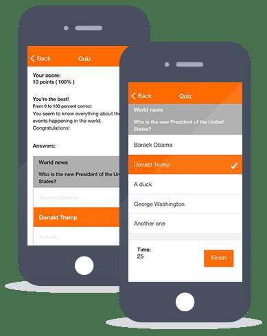 Siberian CMS App Maker's Quiz feature