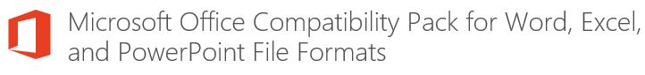 Microsoft Office 2013 Compatibility Pack