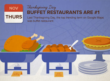 Google Maps helps Thanksgiving Thursday