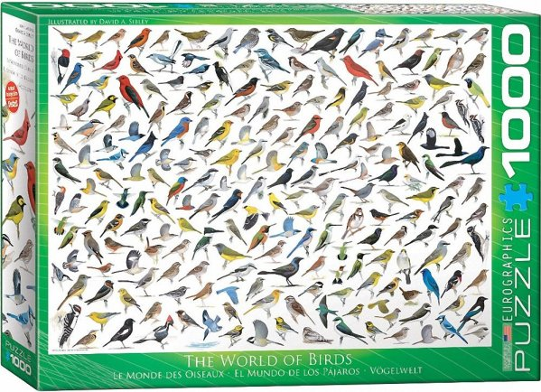 Sibley birds puzzle - 1000 pcs