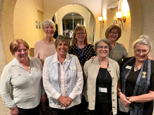 Women in Borrego Springs meeting and connecting.