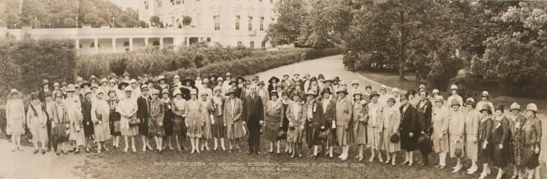 1928 Soroptimist Member at the White House