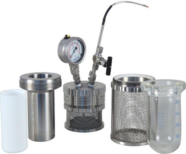 reactor a presion de metal miniclave sica medicion