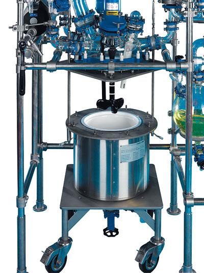 reactor piloto de vidrio chemreactor cr rendimiento sica-medicion