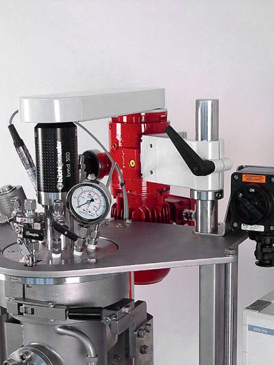 sistema reactor a presion versoclave marca buchiglasuster sica medicion