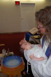 I baptize you Georgia Elsie Marie Smith...