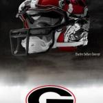 UGA Nike Pro Combat Helmet 10