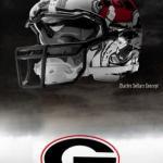 UGA Nike Pro Combat Helmet 7
