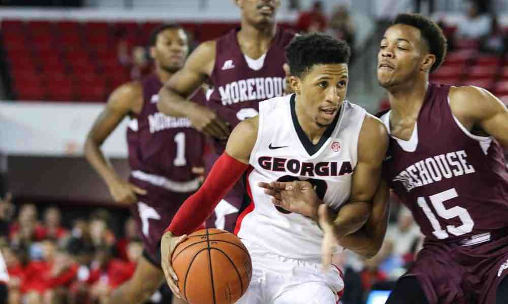 Georgia guard J.J. Frazier (30) during the Bulldogs' game against Morehouse at Stegeman Coliseum in Athens, Ga., on Wednesday, Nov. 30, 2016. (Photo by Cory A. Cole)
