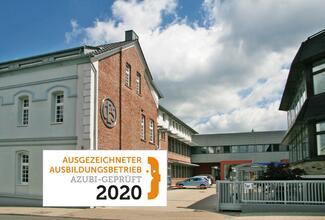 """Als eines der ersten Unternehmen in diesem Jahr erhält CES, die C.Ed. Schulte GmbH Zylinderschlossfabrik aus Velbert, für seine hervorragende Ausbildungsqualität das Gütesiegel """"Ausgezeichneter Ausbildungsbetrieb""""."""