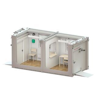Denios liefert die ersten mobilen Labors für kontaktlose Tests auf das Coronvirus.