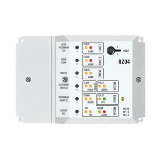 Das Mini-Brandmeldesystem RZ04 eignet sich für den Einsatz in kleinen Objekten.