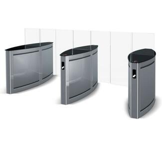 Die Drehsperren für schnelle Zutrittskontrolle bestechen durch edles Design und robuste Ausführung.