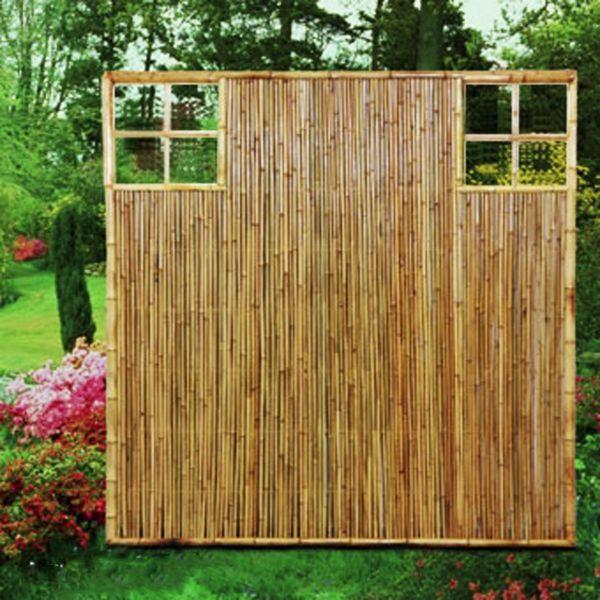 sichtschutzwand bambus zen ziergitter aussen