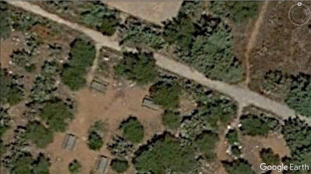 Area del rilievo fotogrammetrico su Google Earth