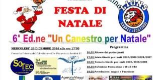 Festa di Natale Basket Lions Leontino